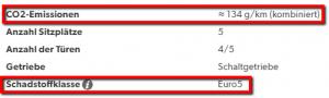 Podatki za izračun DMV-ja