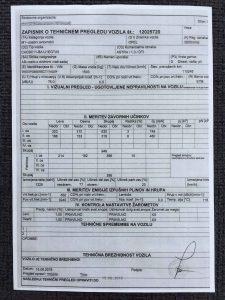 Tehnični pregled, kot osnova za registracijo avtomobila