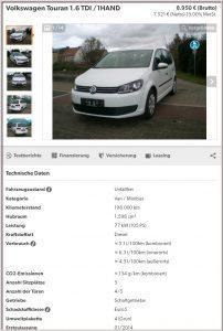 Družinski avtomobil Volkswagen Touran 1.6 TDI