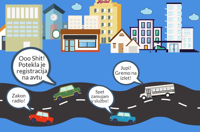 Registracija avtomobila misel ob vožnji