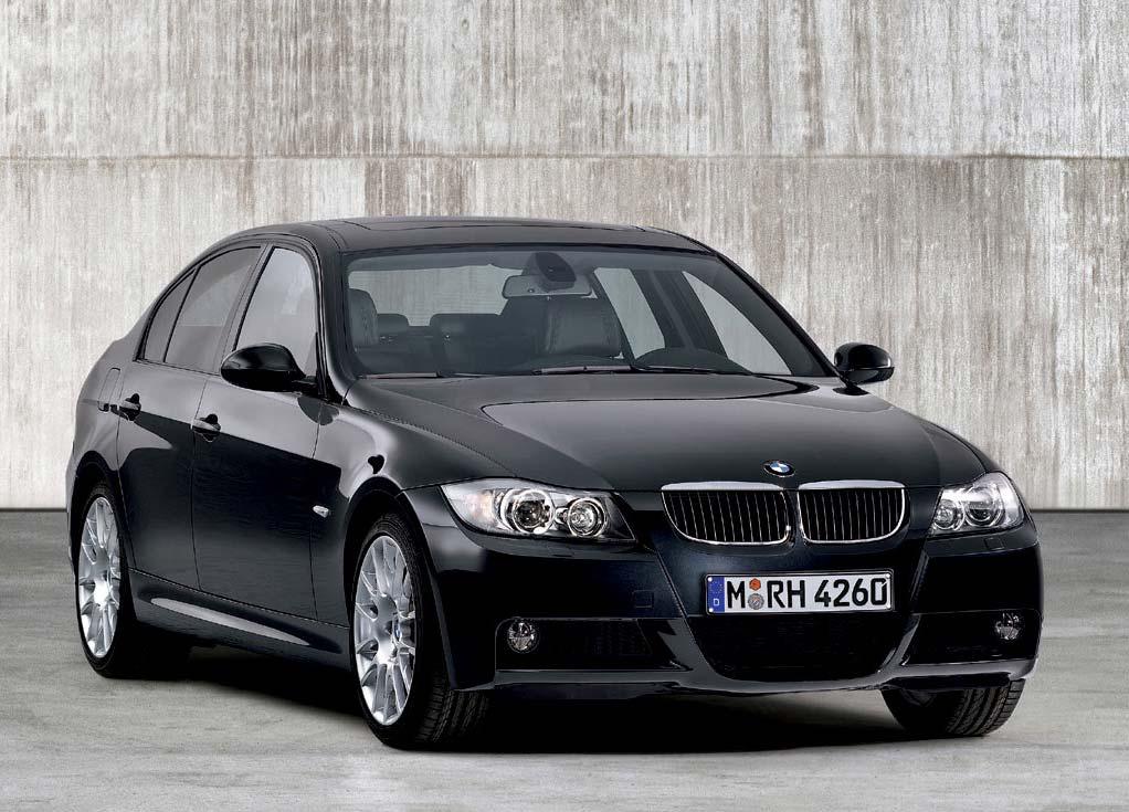 BMW 3 avto ocena črne barve